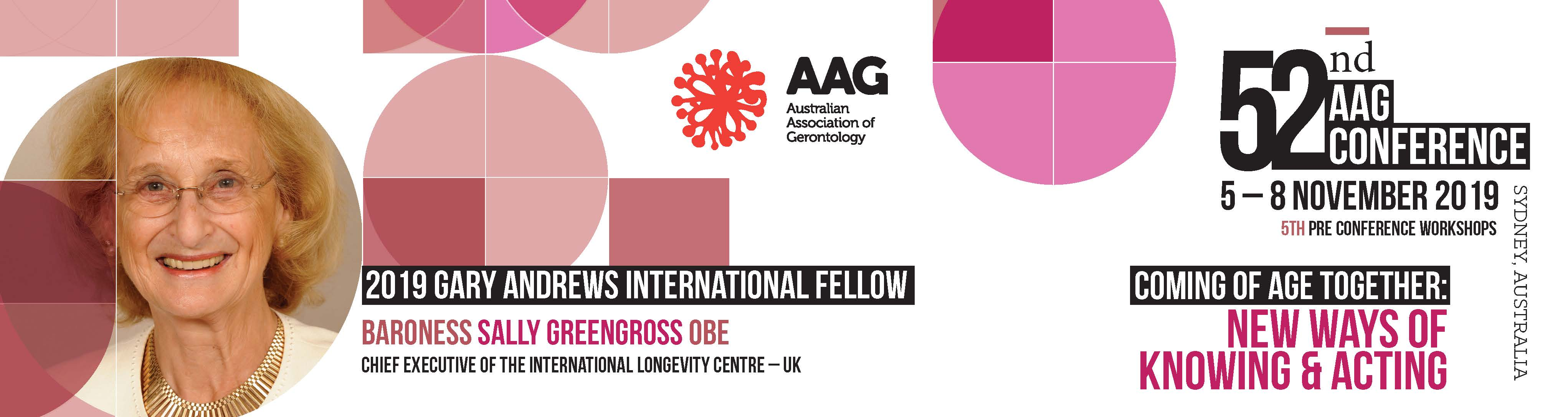 2019 Gary Andrews International Fellow - Sally Greengross